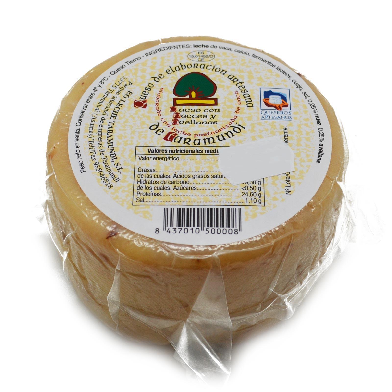 queso taramundi de nueces y avellana