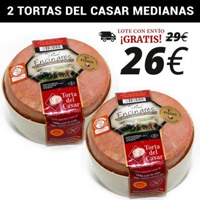 LOTE 2 TORTAS DEL CASAR MEDIANAS